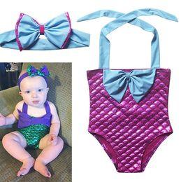 Wholesale Girls Childrens Swimwear Clothing Belle Mermaid Bikini Beach Princess Mermaid Kids Clothes Mermaid Princess Swimming Trunks