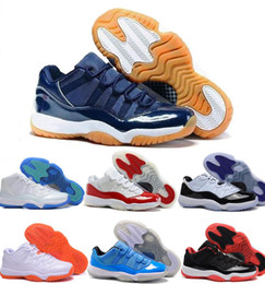 Wholesale Golden Retro Low Basketball Shoes GS Navy Gun Blue Bred Georgetown Space Jam Citrus Women Red White Retro XI Shoes Sneakers