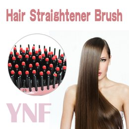 Wholesale Hair Straightener Ceramic Straightener Comb Flat Iron Pro LCD Auto Straightning Brush Electric Hair Iron Hair Styling tool Straighteners