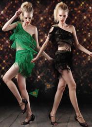 2017 Latin Dance Dress Women Stage Costumes Tassel Lady Latin Dancing Dresses Samba Cha cha Ballroom Jazz Tango Dress Skirt Dancewear