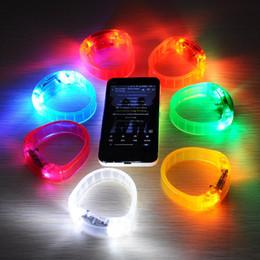 Wholesale Novelty LED Glow Wristband Voice Control Wrist Band Flashing Arm Band Silicone Bracelet LED Luminous Hand Ring Party Disco Christmas Light