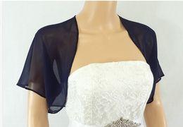 Navy Blue Chiffon Jacket Bridal Bolero Wedding Bolero Jacket Bolero Shrug Wedding Wrap Scarf Bridal Stole