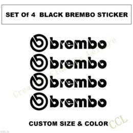 Wholesale Brembo Logo Decal sticker Brembo Brake Caliper Vinyl Decals Sticker Set of Stickers Auto performance decoration