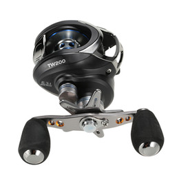Wholesale NEW LMA200 BB Ball Bearings Left Hand Bait Casting Fishing Reel High Speed Carretilha Pesca Fishing Equipment DHL H10519