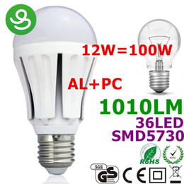 LED E27 Ampoules LED E27 Lampe LED Lights Lighting 12W Aluminium + Plastic 110V / 220V 36LED 5730SMD 1020lm blanc chaud / blanc pur CE Rohs e27 smd ce deals à partir de e27 ce smd fournisseurs