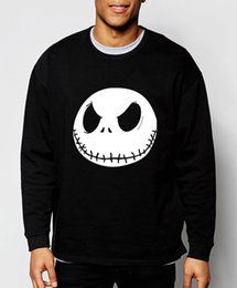 Wholesale-nightmare before christmas 2016 autumn winter Jack Skellington new mens sweatshirts streetwear hip hop hoodies brand clothing