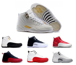 Wholesale 2016 air retro s XII man Basketball Shoes ovo white GS Barons TAXI Flu Game Playoffs flint grey French Blue Sneakers