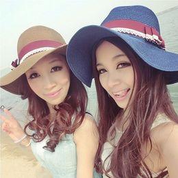 Summer British Style Ladies Beach Cap Romantics Sun Cap With Bow Decoration Beach Travel Ladies Straw Hat