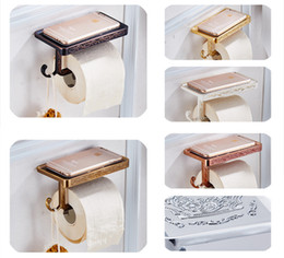 Wholesale And Retail Antique Carving Toilet Roll Paper Rack wiht Phone Shelf Wall Mounted Bathroom Paper Holder And hook