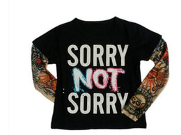 2017 ropa tatuado Los niños de BABYBALL la camiseta camiseta de los muchachos Ropa de bebé Little Boy camisa llena Tees diseñador del tatuaje de la impresión de algodón camisas Baby T ropa tatuado outlet