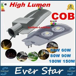 Cree llevó la garantía en Línea-CREE llevó el reflector 50W 60W 80W 90W 100W 150W calle COB de iluminación LED de la CA 85-265V impermeable luces LED al aire libre Garantía 3 años