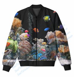 Wholesale Real USA Size Aquarium D Sublimation Print zipper up Jacket plus size