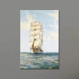 Wholesale Cheap Painting Wall Decorative Prints Ocean Decor Canvas Wall Art Painting Sailing Ship Modular Pictures on the Wall