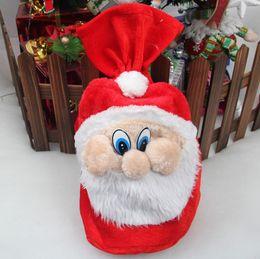 Wholesale New Chrismas Gift Bag X mas Backpack Cartoon Santa Claus Super Soft Sack Christmas Candy Bag drawstring cm fast shipping