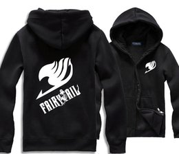 Wholesale-Hot sale japanese anime Fairy tail pullover for Spring Autumn winter 2016 Top quality Fairy tail hoodies plus size
