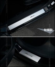 Wholesale High quality aluminium alloy color door footplate door sills protection bar with logo for Honda Accord