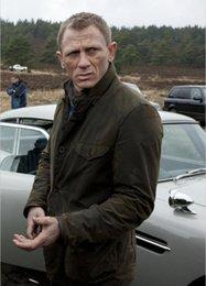 Descuento chaquetas de los hombres de cera BAR calidad superior de James Bond 007 MAN Tokito Ashby encerado chaqueta de algodón más el tamaño