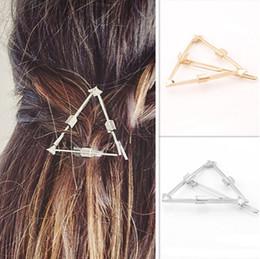 fashion hair clips Gold Sivler Plated Barrettes Brand New Fashion Women Punk Geometric Triangle Arrow Hair Jewelry Wholesale SHR435