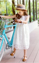 2016 Korean Baby Girls spring summer girls short sleeve Clothes Lace Tutu Dresses Childrens princess party tutu dress BW004