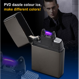 2015 Male gift Arc Lighters metal USB Rechargeable Flameless Electric Arc Windproof Cigar Cigarette Lighter