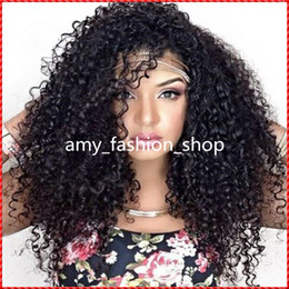 Indian Full Lace Wig 100% Indian Virgin Human Hair Curly Natural Black Color Free Shipping