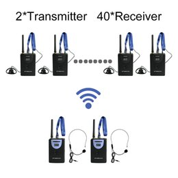 Wholesale Wireless Tour Guide System Transmitter Wiireless Simultaneous Translation System for Tour guiding transmitter receivers