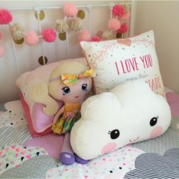 Wholesale Baby Pillow Toys New Kids Room Bed Sofa Decorative Cushion Children Smiley Face Big Eyes Sleeping Dolls x26CM