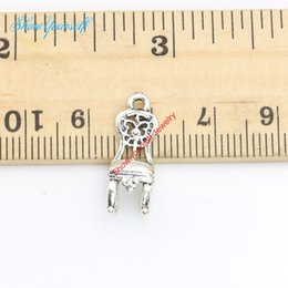 Wholesale 20pcs Antique Silver Plated Chair Charms Pendants for Necklace Jewelry Making DIY Handmade Craft x6mm