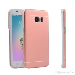 Wholesale Samsung S7 S7 edge Case Ultra thin Luxury Aluminum Metal TPU drop protection Back Case Cover for Samsung Galaxy S7 S7 edge Rose gold