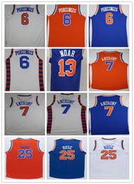 Wholesale Cheap Sale Derrick Rose Jerseys Kristaps Porzingis Joakim Noah Shirt Carmelo Anthony Brandon Jennings Patrick Ewing
