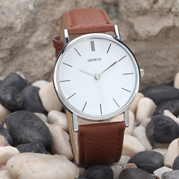 Wholesale High Quality Best Quartz Watches Men Matching Stich Leather Strap Wrist Watch Classic White Large Face Male Watch Big Dial