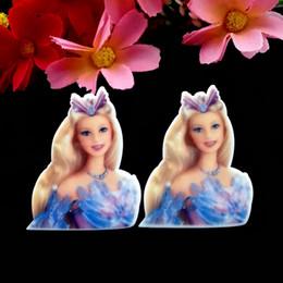 Wholesale 40pcs x29mm Princess Planar Resin Flatback TV Move Charactor Cabochons Flat Back Hair Bow Center