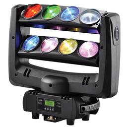 Rgbw conduit faisceau mobile de la tête à vendre-DJ spider LED faisceau mobile tête lavage léger 8x10W RGBW 4in1 stade blanc lighting100W contrôleur DMX multi-changement de couleur