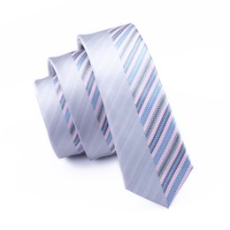 Wholesale Mens Ties New Brand Man Fashion Neckties Hombre Multi Stripes Slim Tie Classic Business CasualMan Fashion Neckties E-256