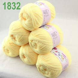 Sale Lot of 6 balls x 50g Cashmere Silk velvet Children Yarn Lemon 18-32