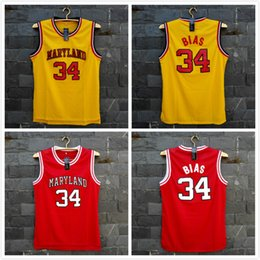 Wholesale With Logo name Stitched TIM VAN STEENBERGEB Len Bias Basketball Jersey Hot fashion Sport Retro