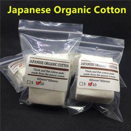 100% Pure japonais Organic Cotton RDA atomiseur Wicking Cotton coton écru Nature pour Pads rda reconstructible atomiseur E Cig Flat coton à partir de e japanese fabricateur