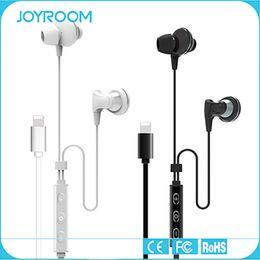 Wholesale Joyroom iphone Lightning Headset Digital Music Hifi Chip In Ear Earphone Lightning Headphone for iphone