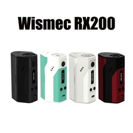 Wholesale Original Wismec Reuleaux TC mod RX200 Mod VW fit three batteries With OLED Screen black and white colors VS snow wolf w free ship