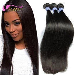30% Off Natural Color Indian Hair Weave Silky Straight Human Hair Bundles XBL DHL Free Shipping