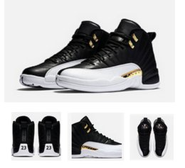 High quality 2016 Retro 12 XII French Blue Master Flu Game Men's Sport Basketball Shoes Sneakers Cheap Retro 12s Wings Black White Gold