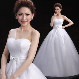 Wholesale 2016 Europe And The United States Single Simple Shoulder Strap Cultivate One s Morality Show Thin Neat The Bride Wedding Dress B
