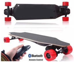 Wholesale Dual Drive Remote Control Four Wheels Electric Skateboard Longboard Skate Board DHL freely shopping