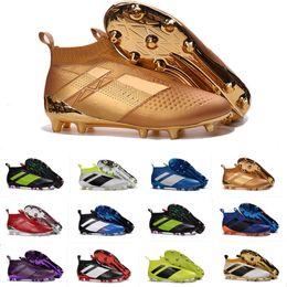 Wholesale 2016 Originals ACE PureControl FG Slip On Men s Soccer Shoes Boots Men Performance Ace Cleats Football Sneakers US Size