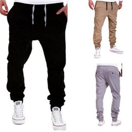 Wholesale New Mens Trousers Sweatpants Harem Pants Slacks Casual Jogger Dance Sportwear Baggy