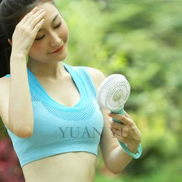 Wholesale 2016 Smart Mini USB Handheld Air Conditioner Speedless Battery Powered Hand Fan Cooling With Four Optional Colors For Outdoor
