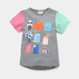 Colorful Children T-Shirts Girls Clothes Short Sleeve Boys Clothing T Shirt Kids Tee Shirts Outfits 100% Cotton Outfits Jersey