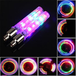 Wholesale NEW Colorful LEDs Bicycle Wheels Light Warning Lamp With Colors For Bike Motorcycle Or Automobile Valve Mouth