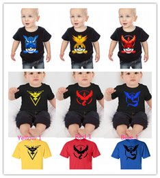 Wholesale 2016 Cool T shirts For Boys Kids Poke T shirts Baby Kids Cartoon Poke Short Tshirts Summer Kids Clothes Styles to choose