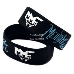 Wholesale Shipping Rock Style Band MMF Memphis May Fire Silicone Wrideband Debossd Bracelet for Fans